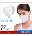 Mascarilla FFP2 KN95 Adulto No reutilizable de 5 capas. Dispone de un (Eficiencia de filtración Bacteriana) mayor que 95%
