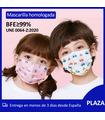 50 pcs Mascarillas Higiénicas Niños/Niñas Homologada en bolsa de 10 unidades BFE 99% Mask666
