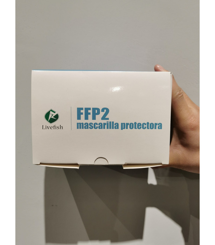 Mascarilla FFP2 MARCA LIVEFISH KN95 Adulto No reutilizable de 5 capas. Dispone de un