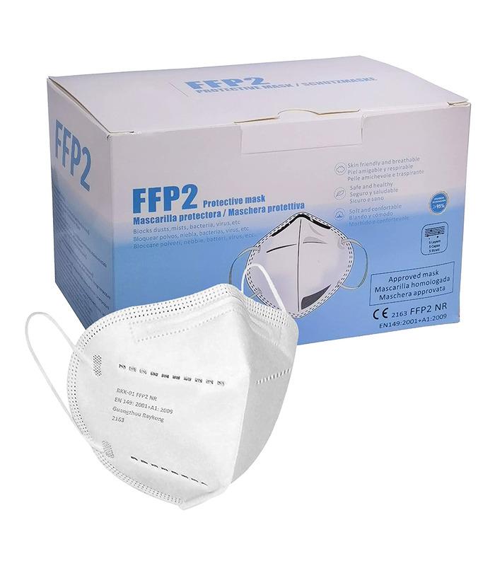 Mascarilla FFP2 BLANCA 60 PCS MARCA ELIOX CE 2163, Mascarilla de Protección Personal homologada. 5 capas.